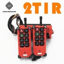 Spedizione gratuita industriale senza fili Radio telecomando F21 E1B pulsanti a 8 canali interruttori per gru di sollevamento Uting