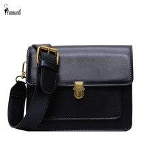 FUNMARDI Retro Lock Flap Crossbody Bags Mini Solid Color Women Shoulder Bag PU Leather Messenger Bag For Lady Small Bag WLHB2142