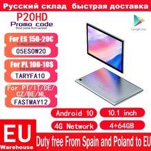 Teclast – tablette PC 4G P20HD, Android 10, 1920x1200, Octa Core, écran de 10.1 pouces, IPS, SC9863A, GPS, 4 go de RAM, 64 ROM, 6000mAh, pour appel téléphonique