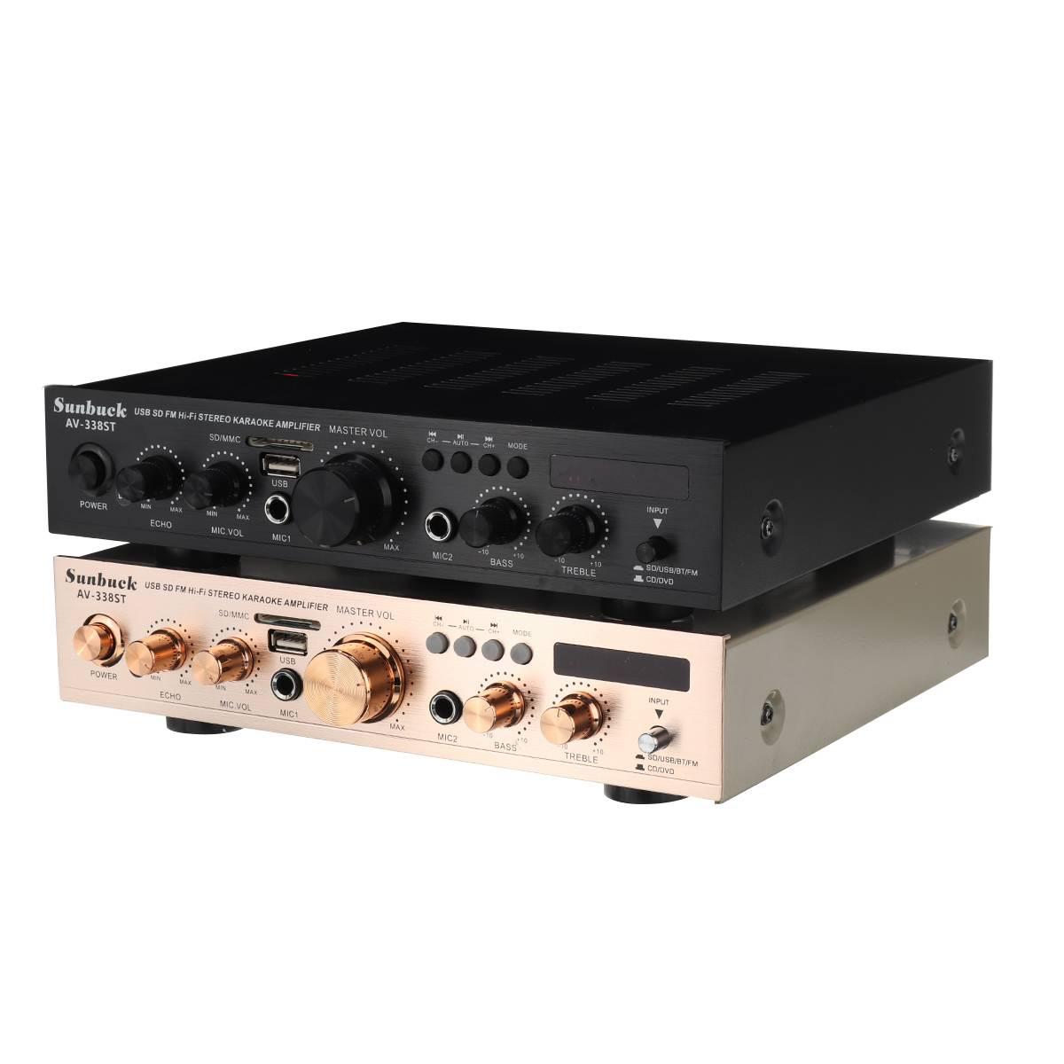 цифровой hi-fi стерео усилитель мощности sunbuck av-338st, 60 вт на канал, 5-канальный (4.1)