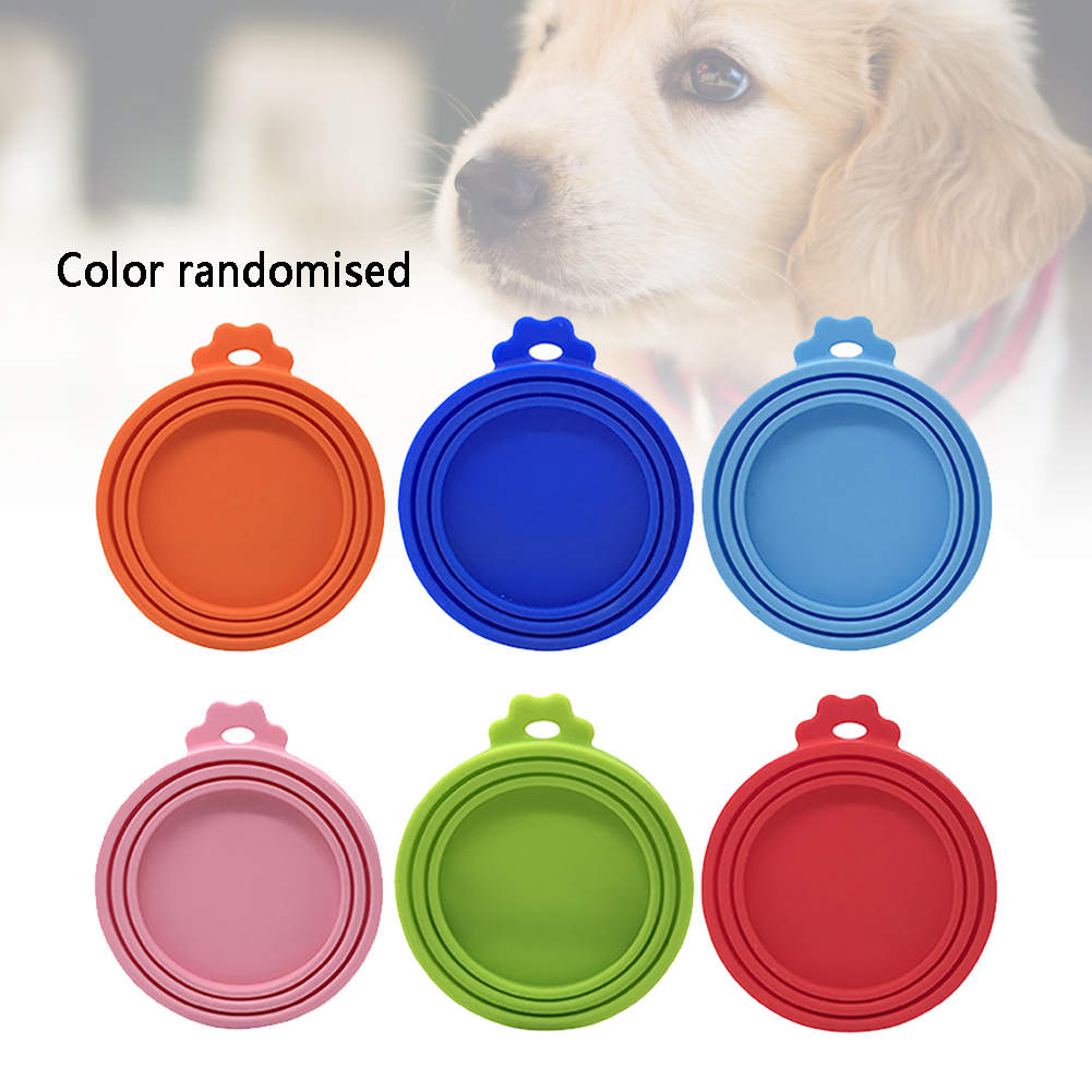 Top Silicone Dog Practical Storage Caps Sealed Pet Food Can Cover Tin Feeders Cat Reusable Daily Lid