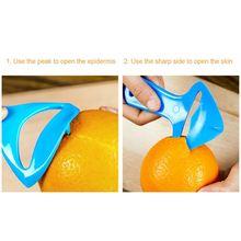 Бытовая пластиковая оранжевая Овощечистка кухонная грейпфрутовая Овощечистка практичная многофункциональная Овощечистка оранжевое кухонное устройство для очистки овощей и фруктов