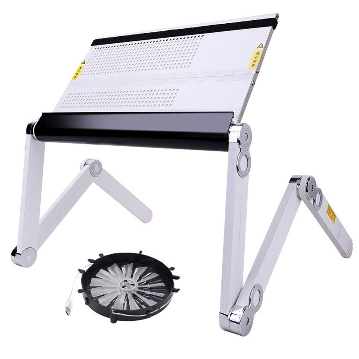 Ordinateur portable adapté avec ventilateur de refroidissement réglable 360 degrés pliant ordinateur portable bureau Table support plateau pour lit et canapé - 6