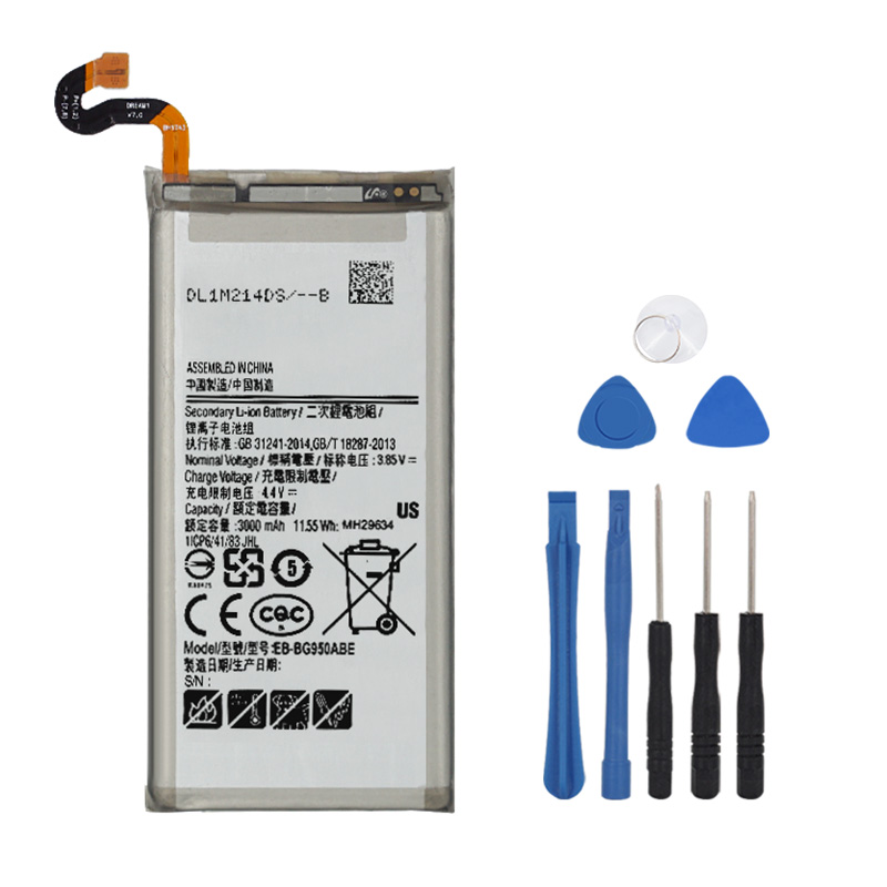 100% Original Battery EB-BG950ABE For Samsung Galaxy S8 G950 SM-G950F G950U G950W G950S G950K G950L G950FD G9500 G9508 3000mAh
