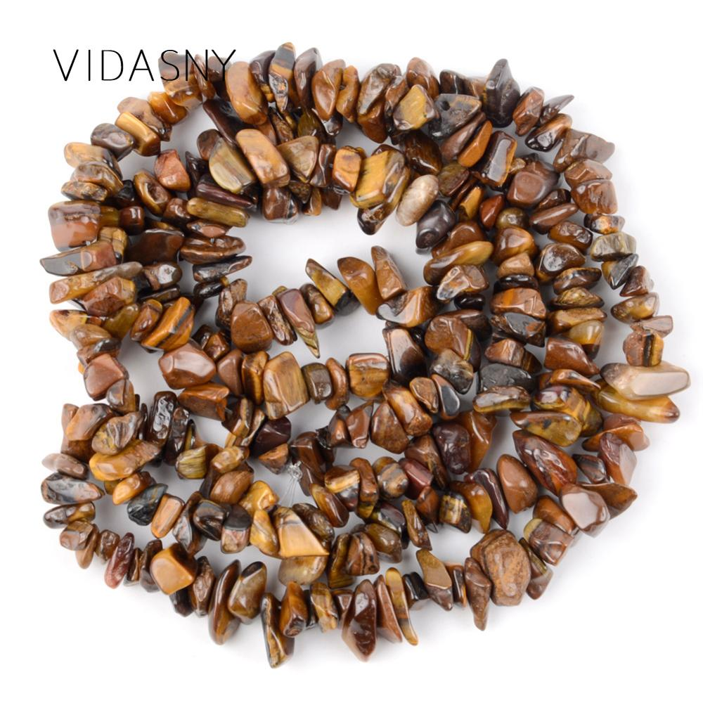Natural Gem Irregular Yellow Tiger Eye Chip Stone Beads For Jewelry Making 3-5-8-12mm Freeform Diy Necklace Bracelet 16
