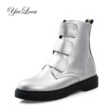 2019 Winter Warm Plush Ankle Boots For Women Round Toe Boots Fur Women Winter Boots Platform Shoes Woman Patent Leather Silver цены онлайн