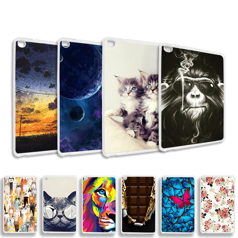 Case For Huawei Honor Tab 5 8.0 Inch Case 3D DIY Fashion Painted Soft Silicone TPU Back Tablet Cover Funda Bumper Capa