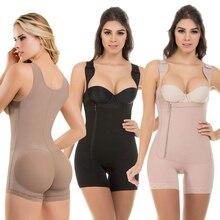 Body adelgazante de busto abierto para mujer, Fajas y modeladores de cuerpo colombianos, moldeadores de cuerpo S 6XL en 3 colores