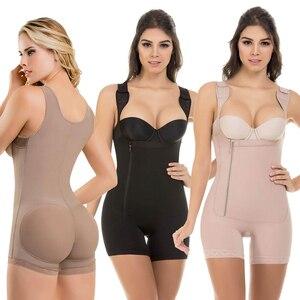 Image 1 - Mulheres busto aberto mais magro shapewear bodysuit controle de barriga levantador corpo shaper fajas colombianas S 6XL 3 cores shapers underbust