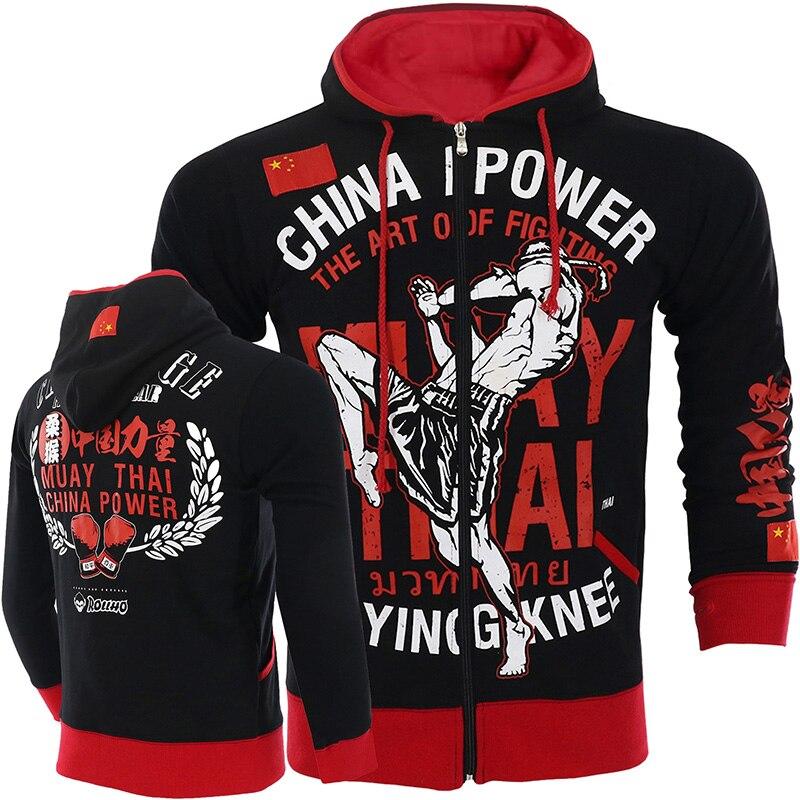 ROLLHO Hoodies Autumn And Winter MMA Boxing Jacket Fitness Long Sleeve Sweatshirt Genuine Mma Fighting Workout Muay Thai Jacket