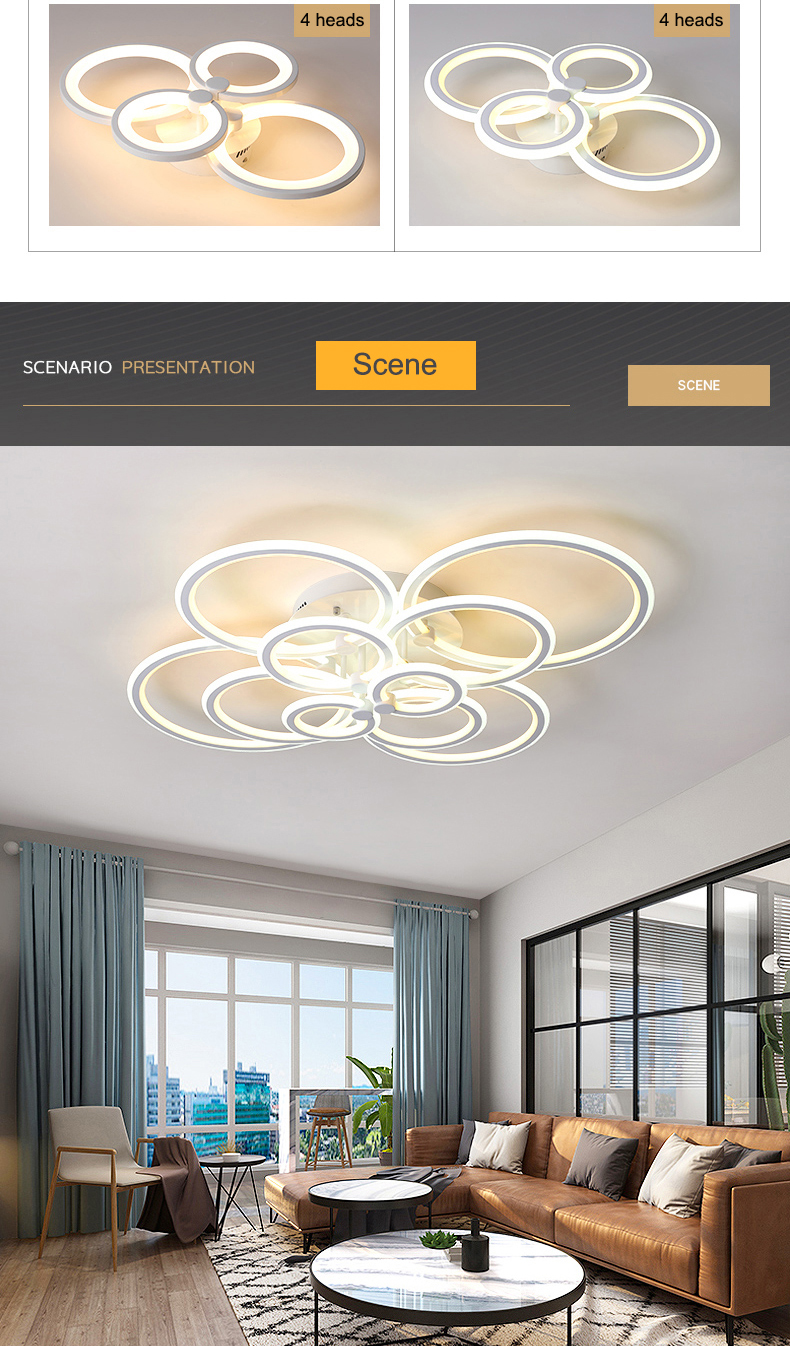 H52ef1fd810bc4600971d195255d422322 NEO Gleam RC Modern Led ceiling lights for living room bedroom study room ceiling lamp plafondlamp White Color AC 110V 220V