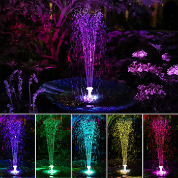 Pływające fontanna solarna pompa 6 fontanna wody style Panel słoneczny zasilany LED światła oczko wodne ogród basen staw oczko wodne dekoracja trawnika tanie i dobre opinie CN (pochodzenie) Z tworzywa sztucznego