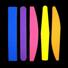 Nail Files Nail Buffer Buffing Slim Thick Nail Makeup Tools Diamond Spong Soft Nail File Mix Color Random Color(China)