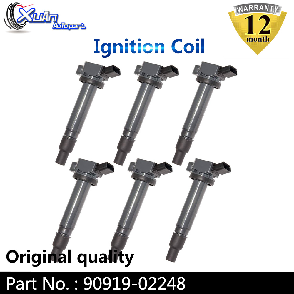 XUAN Ignition Coil 90919-02248 For TOYOTA MATRIX SOLARA TACOMA TUNDRA Lexus IS F 4.0L 2005-2019 <font><b>9091902248</b></font> image