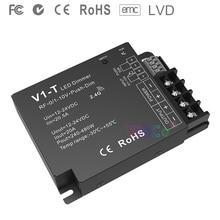 V1-T 3 in 1 Dimming led Controller 1CH*20A 12-24VDC CV 0/1-10V Push-Dim Auto-transmitting Synchronize RF 2.4GHz led strip dimmer new and original autonics e40h8 600 3 t 24 encoder 12 24vdc