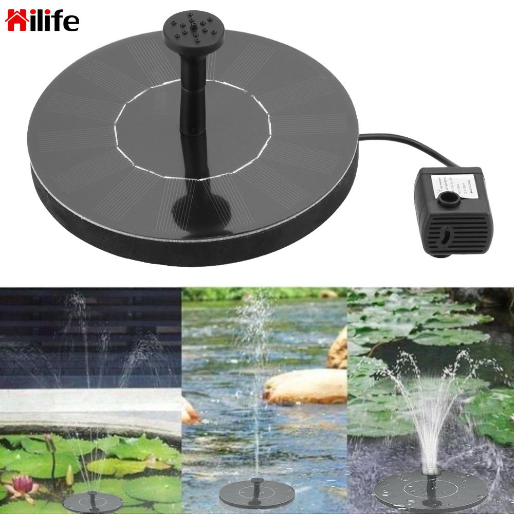 HILIFE Solar Fountain Mini for Garden Pool Pond Solar Panel Garden Patio Decor Fountain  Floating Fountain