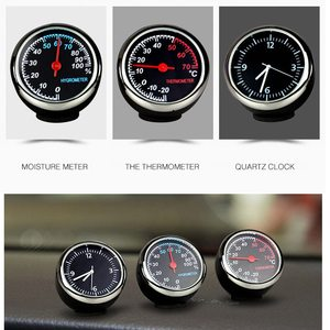 New Car thermometer clock car