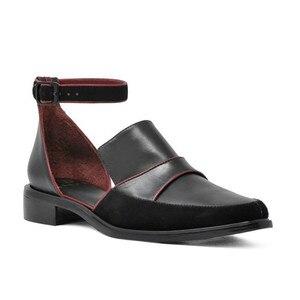 Image 3 - Женские босоножки с ремешком на щиколотке SWYIVY, черные/белые повседневные туфли размера плюс 34 43, лето 2019