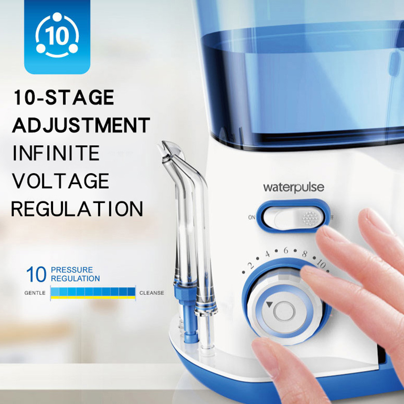 Waterpulse V300G Oral Irrigator 5pcs Tips Dental Electric Water Flosser 800ml Oral Hygiene Dental Flosser Water Flossing V300