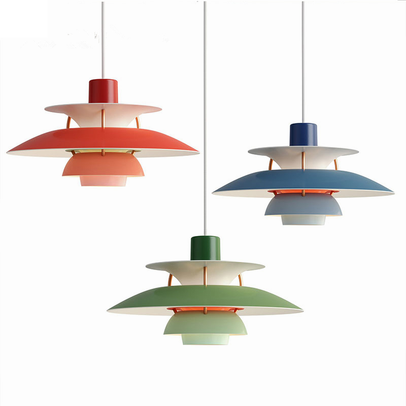 Nordic Led Loft Pendant Light Colorful Umbrella Hanging Lamp for Dining Room Kitchen Suspend Hanglamp E27 Home Lighting Fixtures-in Pendant Lights from Lights & Lighting