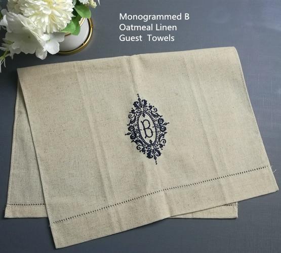 Set Of 12 Monogrammed Guest Towel 14*22
