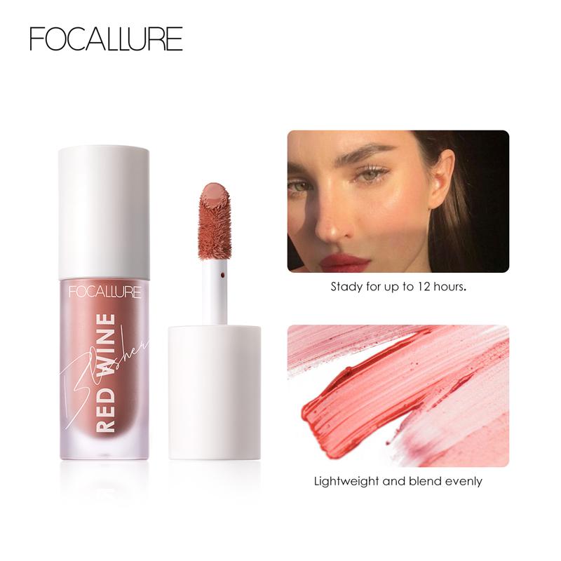 FOCALLURE Face Liquid Blusher Contour Makeup Long lasting Matte Make Up Natural Cheek Contour Blush