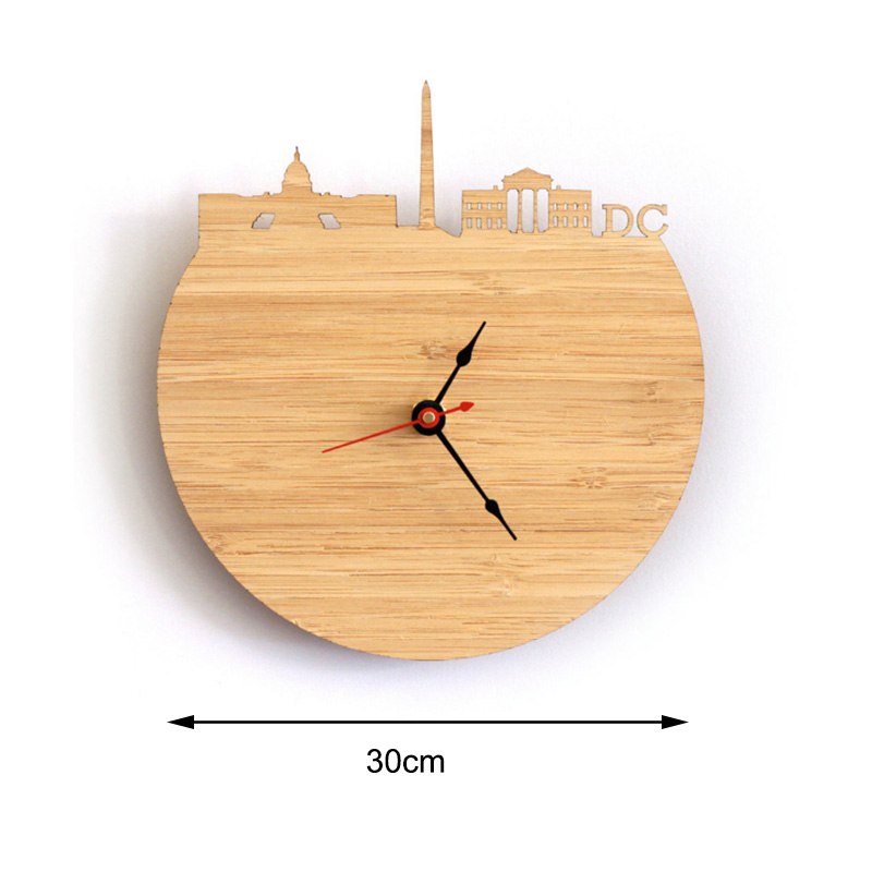 Analog Clock - Washington Natural Bamboo Wall Clock