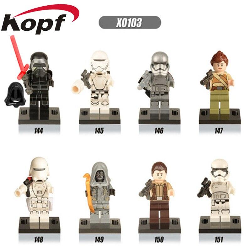 X0103 Single Miniture Figures Space The Force Awakens Finn Han Rey Poe Troopers Bricks Building Blocks For Children Gift Toys