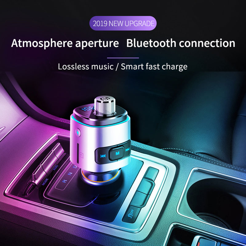 2019 Wireless Radio <font><b>Adapter</b></font> <font><b>Car</b></font> <font><b>FM</b></font> <font><b>Transmitter</b></font> Portable AUX Stereo <font><b>Bluetooth</b></font> <font><b>Car</b></font> <font><b>Charger</b></font> for <font><b>MP3</b></font> Drop Shipping image