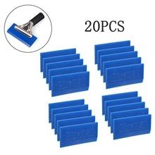 EHDIS 20pcs BLUEMAX Blade Rubber Handle Squeegee Vinyl Car Wrap Foil Film Ice Scraper Window Tint Tools Sticker Accessories