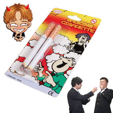 1 piezas cigarrillo falso broma divertida novedad luz fumar cigarrillo fumar Gadget y regalos de Halloween juguete clásico