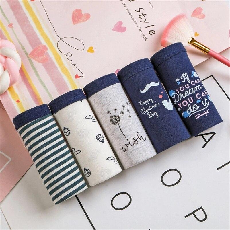 Women's Panties Cotton Gril Briefs Print Underwear Sexy Lingerie Stripes Underwear Plus Size Underpants Female Panty Wholesale