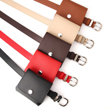 2020 New Black Red Coffee Waist Bag Belt PU Leather Femal Sm
