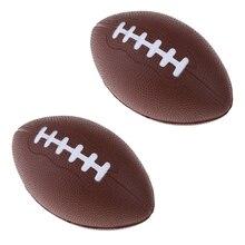 2x премиум ПУ пена Американский Футбол открытый тренировочный мяч для детей молодежи