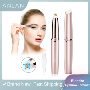 Image 2 - Eyebrow Trimmer Epilators Lipstick Brows Pen Hair Remover Epilator Shaver Razor Instant Painless Eyebrow Razor Epilator Portable
