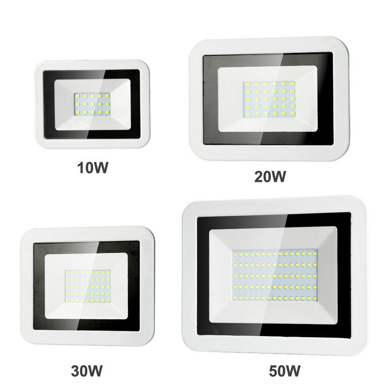 LED Flood Light 50W 10W 20W 30W Projector 220V 240V IP65 Outdoor Security Landscape Led Reflect Floodlight Wall Spotlight Chip