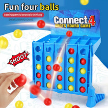 Super Funny Bouncing Linking Shots Educational Toys Children'S Portable Jump Ball Connect Four-Line Board Game Toy For Children