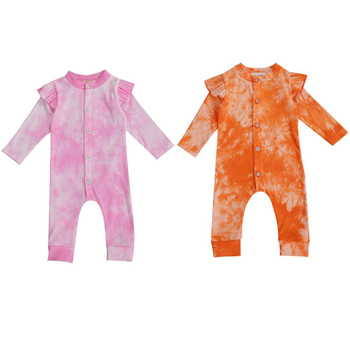 Baby Boys Autumn Romper Infant Cotton Newborn Long Sleeve Tie-dye Rompers Baby Girl One-pieces Jumpsuits Cotton Clothes Outfits 2018 newborn baby boys girl rompers spring children clothes long sleeve autumn baseball uniform jumpsuits cotton pajamas