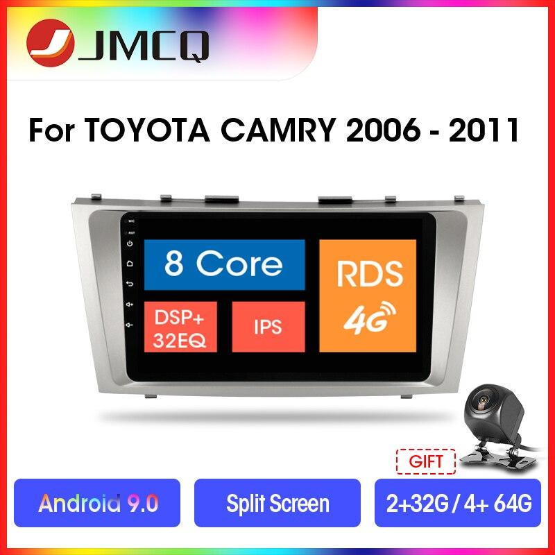 """Jmcq 9 """"android 9.0 rádio do carro para toyota camry 2006-2011 multimídia jogador gps navigaion flutuante janela splitscreen com quadro"""