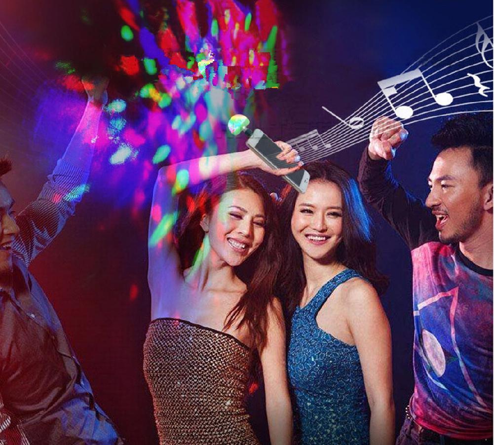 Мини USB СВЕТОДИОДНЫЙ диско этапа светильник Портативный Семья вечерние магический шар красочный светильник бар клуб сценическое освещение лампа для мобильного телефона