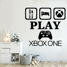 Gamer Xbox wall decal Eat Sleep Game Controller video game decals Customized For Kids Bedroom Vinyl Wall Art Decals