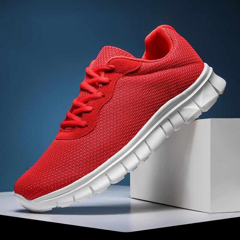 Fashion Unisex Sneakers Mesh Breathable Men's Casual Shoes Outdoor Walking Jogging Women Couple Shoes Zapatillas Hombre Size 47
