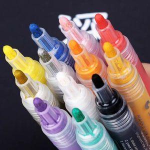 Image 3 - 12 24 ألوان/مجموعة STA الاكريليك أقلام تخطيط دائمة للتلوين ل روك السيراميك الزجاج الخزف القدح الخشب قماش قماش اللوحة