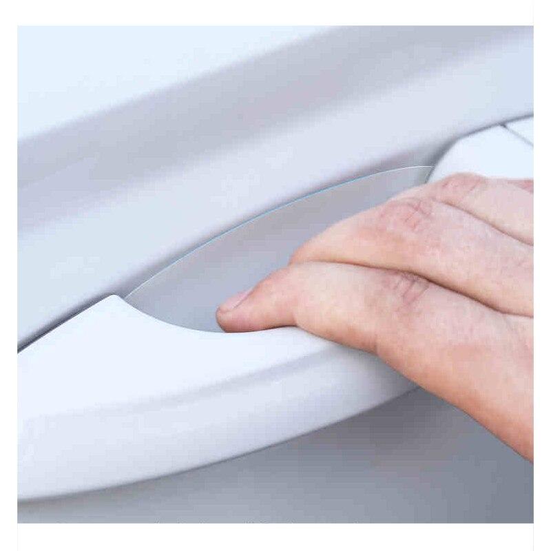 Lsrtw2017 PVC Car Transparent Door Bowl Protective Film for Skoda Kodiaq Karoq Gt Interior Mouldings Accessories