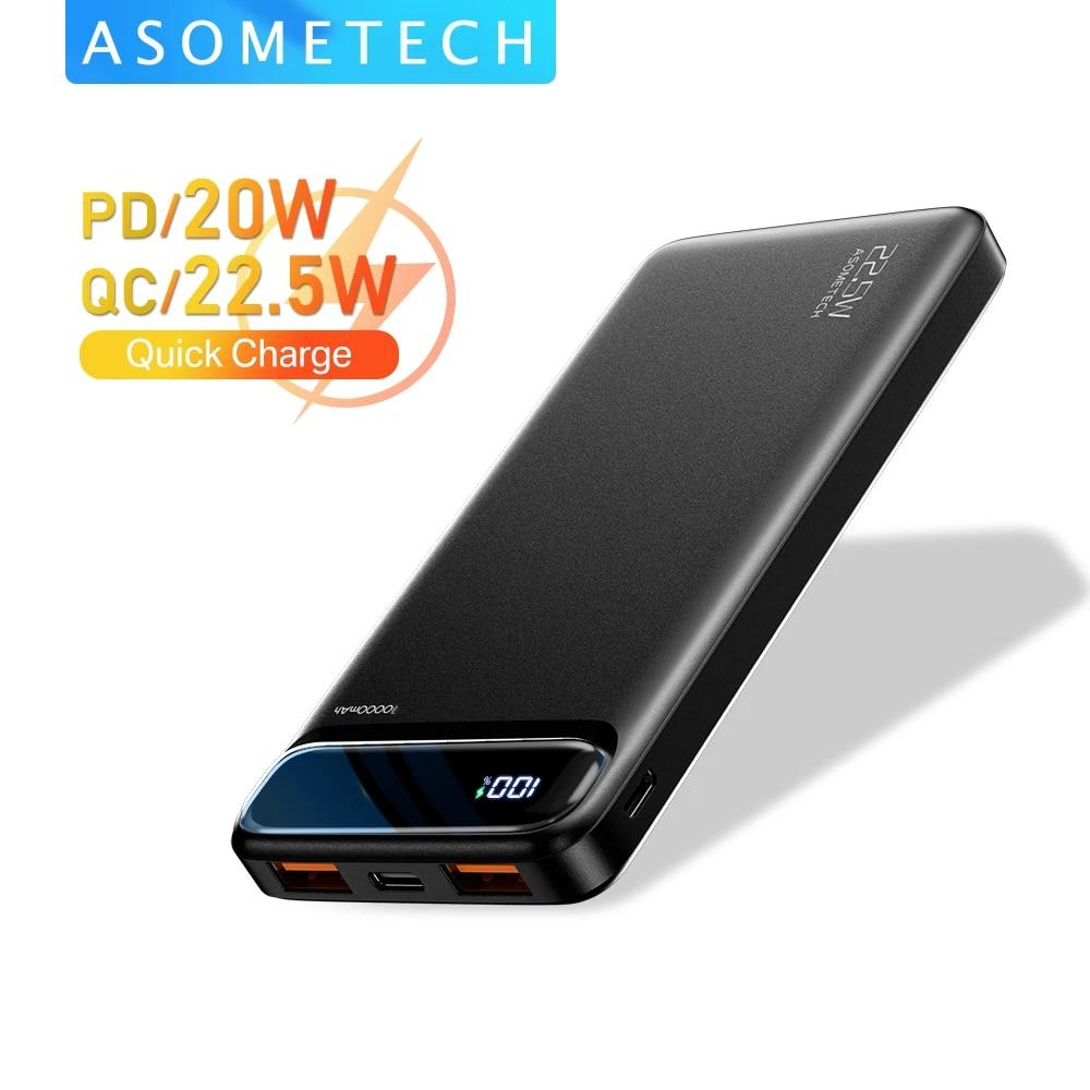 Power Bank 20000mAh 22.5W SCP Portable Charger Powerbank 10000 mAh External Battery PD 20W Fast Charging For iPhone 12 Xiaomi mi