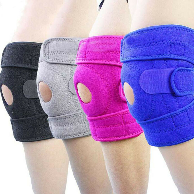 1PC Sport Gym Knee Pad Wrap Support Casing Protect Adjustable Brace Arthritis Injury