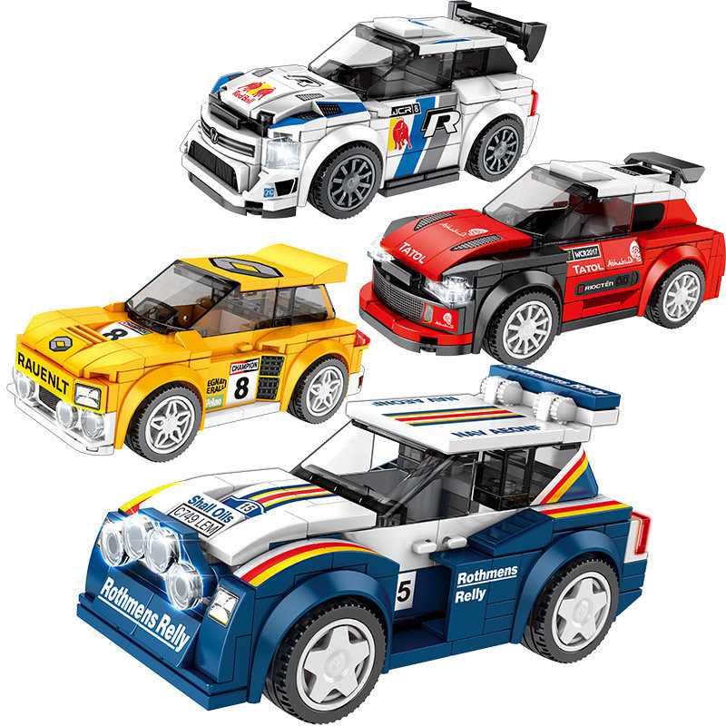 Creator Technic Metro 6R4 R5 Maxi Turbo Champion Super Race Car Parts Rally Building Blocks Sets Bricks Kids Kits Children MOC image