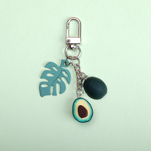 2019 New Simulation Fruit Avocado Heart-shaped Keychain Fashion Jewelry Gift For Women Or Men Key Chain Small