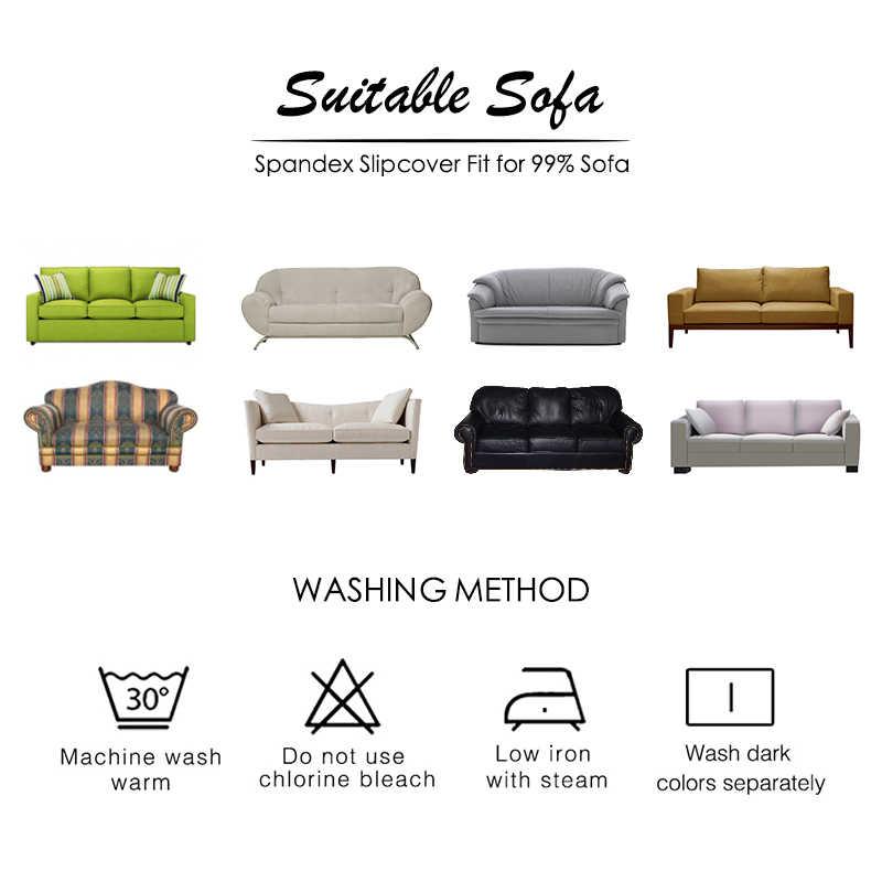 FORCHEER funda de sofá elástica en forma de L para la sala de estar de poliéster y Spandex funda de sofá funda de sillín deslizable de un asiento/dos/tres