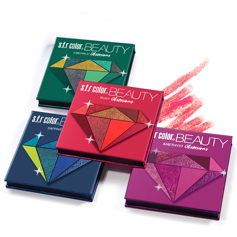 Makeup Metal matte Eyeshadow Pallete makeup brushes 9 Color Shimmer Pigmented Eye Shadow Palette Make up Palette maquillage 6